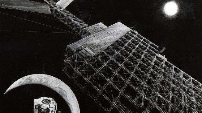 Někdejší vize solární elektrárny od NASA