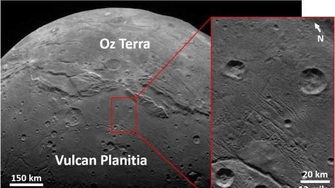 Absence kráterů,