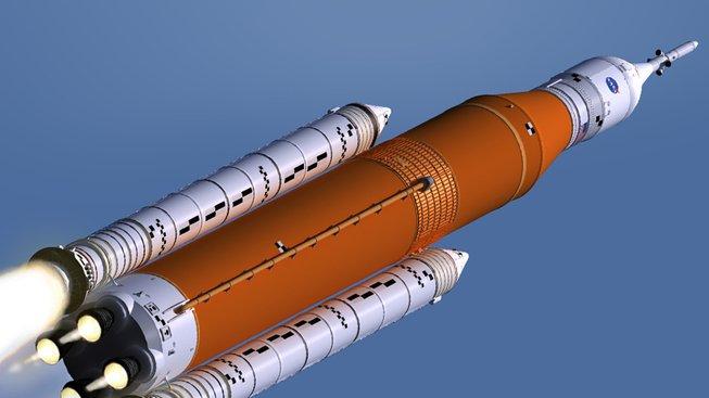 Plánovaná raketa Space Launch System (SLS)