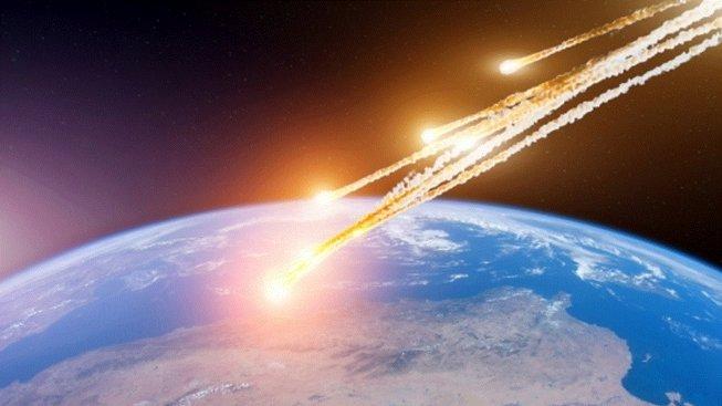 Ilustrace možného dopadu asteroidu z pozdního dryasu