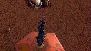 Umístění SEIS deketoru na povrch Marsu