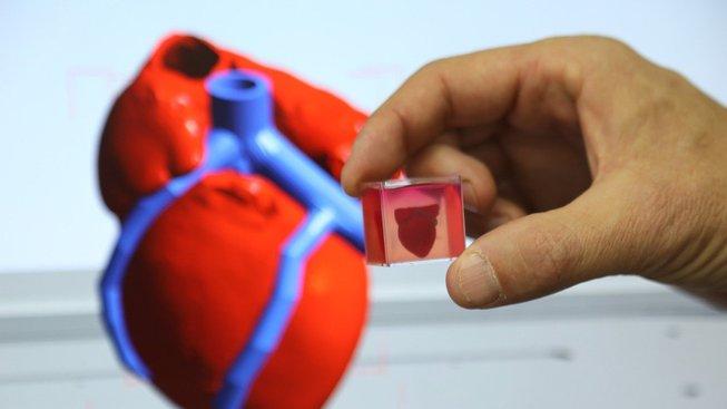 Vytisknuté srdce slibuje naději pacientům, kteří čekají na transplantaci