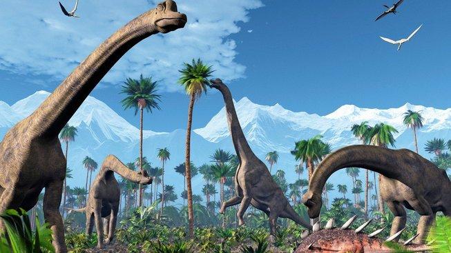 Dinosauři obývali celou planetu, po ledu nebyla ani známka. Ilustrační snímek