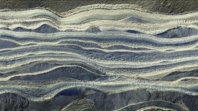 Jednotlivé vrstvy sedimentů