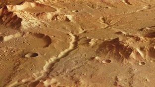 Říční koryto na Marsu
