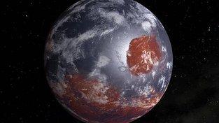 Umělecká představa raného Marsu, když na něm ještě byly oceány a měl atmosféru