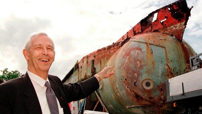 Jacques Piccard s mezoskafem, který proplul Golfský proud