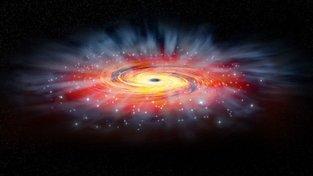 Umělecké ztvárnění černé díry Sagittarius A*