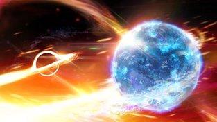 Tak to může vypadat, když černá díra potkává neutronovou hvězdu