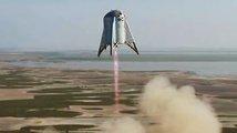 Musk se o 150 metrů 'přiblížil' Marsu. Tak vysoko vyskočil jeho Starhopper