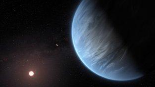 Umělecké ztvárnění exoplanety K2-18b