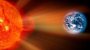 Sluneční bouře mířící na Zemi