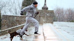 Rocky Balboa (Sylvester Stallone) během své běžecké dávky