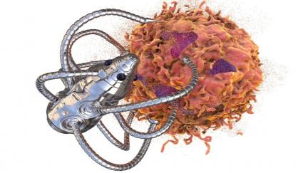 Šikovný nanorobot vám přinese léky a odřízne nádor