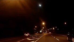 Meteor nad západní Austrálií u města Perth