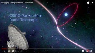 Zakřivený časoprostor pozorovaný z Parkesova radioteleskopu v australském Novém jižním Walesu