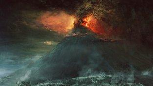 Tak mohl vypadat konec kontinentu Zálandie.  Snímek z filmu Pán prstenů: Dvě věže (The Lord Of The Rings: The Two Towers)