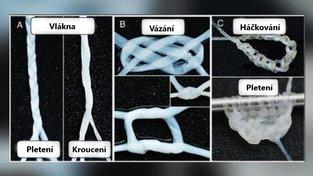 Snímky ze studie ukazují možnosti lidského vlákna