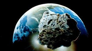 Asteroid letící k Zemi