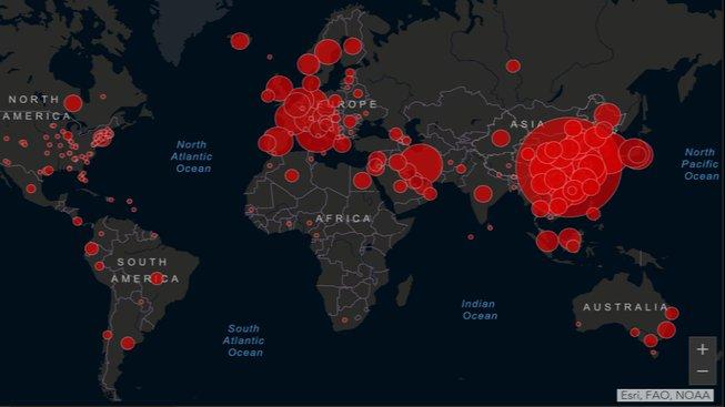map coronavirus