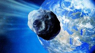 Meteorit blížící se k Zemi