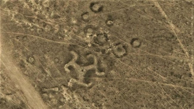 GOOGLE EARTH SWASTIKA