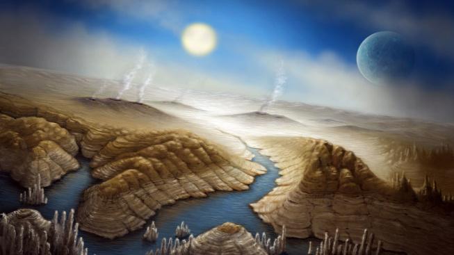 Umělecké ztvárnění planety u bílého trpaslíka