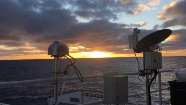 Sběrač aerosolových částic na výzkumné lodi