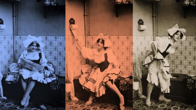 V roce 1910, před španělskou chřipkou, ještě neměli o šíření virů ze záchodové mísy potuchy