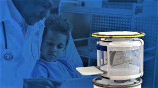 Přenosná magnetická rezonance šetří čas i peníze. (Fotomontáž - není v měřítku.)