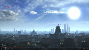 Hvězda Sirius nad Moskvou.