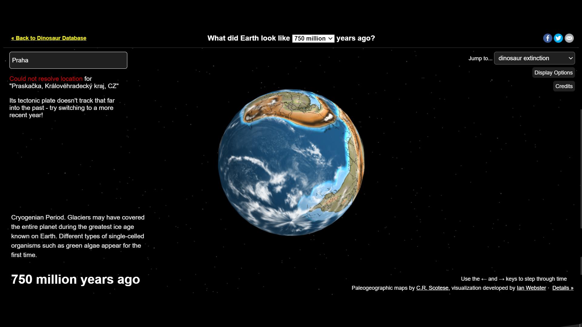Místo, kde leželo vaše město, před stovkami milionů let