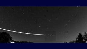 Tečný meteorit nad Evropou