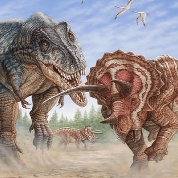 Odhalena první úplná kostra T. rexe. Vypráví o jeho smrtelném boji