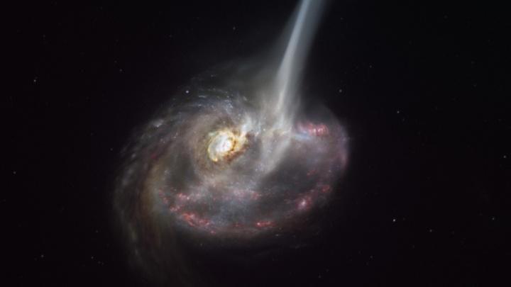 Astronomové poprvé viděli umírat galaxii