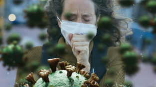 Lidé s britskou variantou covidu víc kašlou, čich a chuť jim ale zůstávají