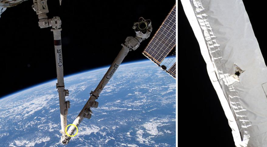 NASA-canadarm-debris