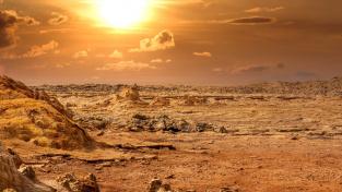 Apokalyptická krajina s abstraktní oblohou, tak vypadá jedinečné místo na Zemi - Dallol.