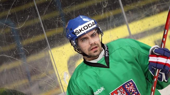 V pražské Tesla Areně se 12. dubna 2011 uskutečnil první z tréninků české hokejové reprezentace před utkáními Euro Hockey Challenge proti Švýcarsku v Litvínově. Na snímku útočník Tomáš Rolinek (Magnitogorsk, KHL).  BOHUMIL ČERVENKA / MEDIAFAX