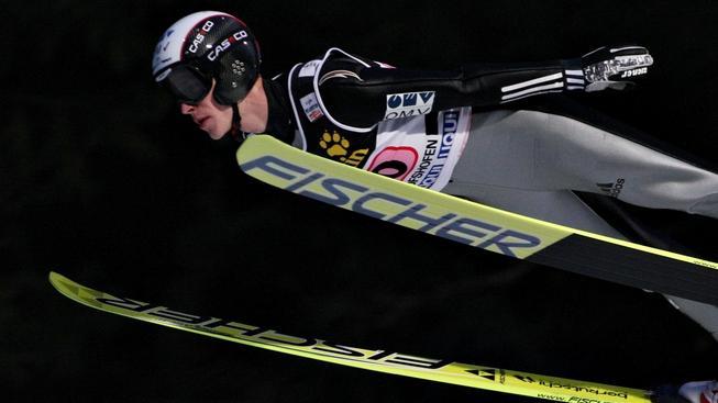 V úterý 6. ledna  2009 se v rakouském Bischofshofenu konal závěrečný podnik letošního Turné čtyř můstků. Na snímku český reprezentant Roman Koudelka.  ALEŠ SUCHÁNEK / MEDIAFAX