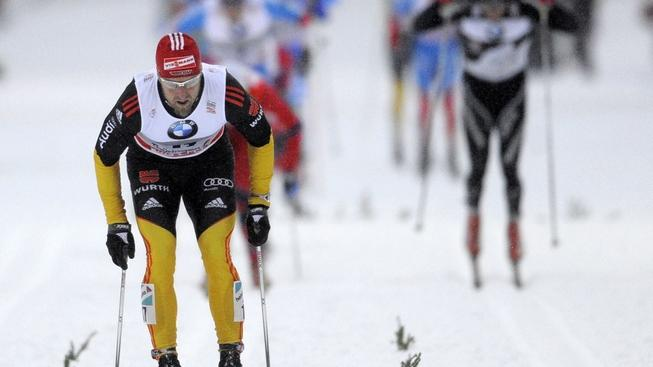 Image: 0111660395, License: Rights managed, Axel Teichmann of Germany competes to win the men's Tour de Ski 15 kilometers pursuit competition on December 30, 2011 in Oberhof, eastern Germany. AFP PHOTO / ROBERT MICHAEL, Place: GERMANY, Model Release: No or not aplicable, Credit line: Profimedia.cz, AFP