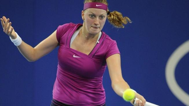 Image: 0111762547, License: Rights managed, 02.01.2012 Hopman Cup Tennis from the Burswood Dome in Perth Australia. Petra Kvitova (CZE) returns a shot in her match on day three of the XXIV Hopman Cup at Burswood Dome, Perth, Australia., Place: Australia, Model Release: No or not aplicable, Credit line: Profimedia.cz, Actionplus