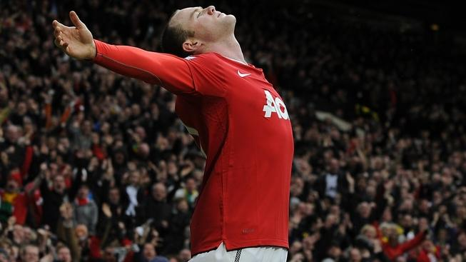 Image: 0111657497, License: Rights managed, Feb 12, 2011 - Manchester, United Kingdom - Manchester United footballer WAYNE ROONEY celebrates after scoring a overhead kick against Manchester City (Credit Image: © Kevin Quigley/Daily Mail/SOLO Syndication), Place: United Kingdom, Model Release: No or not aplicable, Credit line: Profimedia.cz, Solo