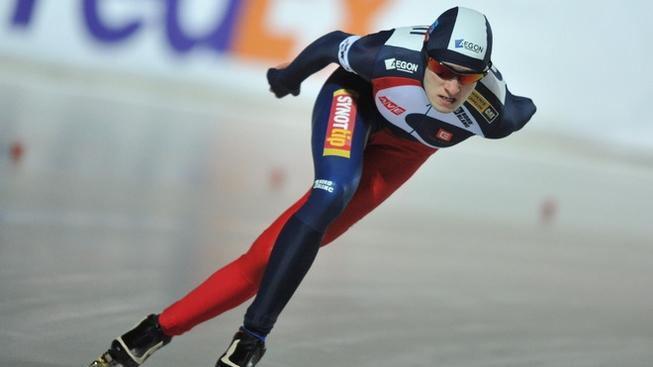 Martina Sablikova of the Czech Republic competes in the women's 3,000-meter event of the 2012 European Speed Skating Championships at the City Park Ice Rink of Budapest on January 6, 2012.  AFP PHOTO/ ATTILA KISBENEDEK (Photo credit should read ATTILA KISBENEDEK/AFP/Getty Images)