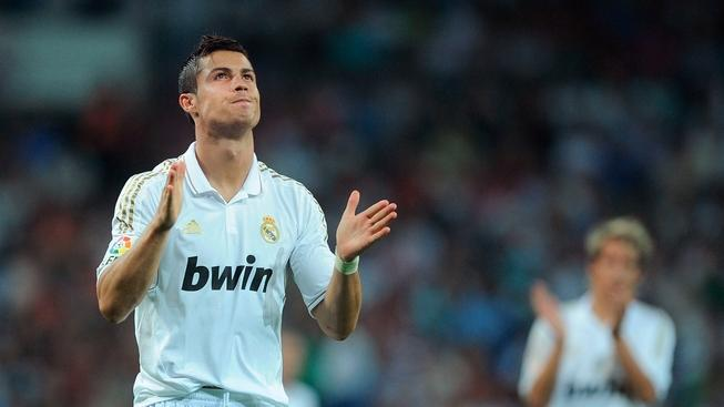 <<enter caption here>> at Estadio Santiago Bernabeu on September 10, 2011 in Madrid, Spain.