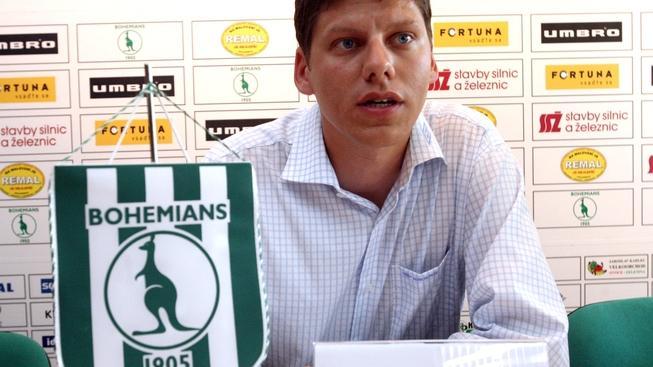Ředitel klubu Bohemians 1905 Lukáš Přibyl 29. července 2008 na tiskové konferenci. JAKUB POLÁČEK / MEDIAFAX
