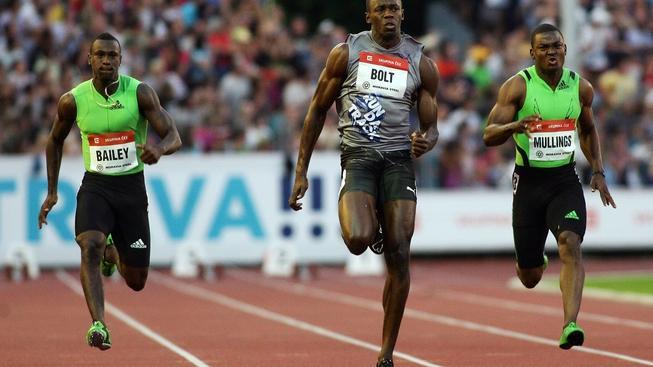 Na Městském stadionu v Ostravě-Vítkovicích se 31. května 2011 uskutečnil atletický mítink Zlatá Tretra Ostrava. Na snímku Usain Bolt. MILAN KAMMERMAYER / MEDIAFAX
