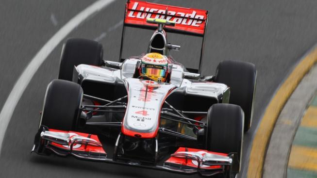 during practice for the Australian Formula One Grand Prix at the Albert Park circuit on March 16, 2012 in Melbourne, Australia.