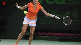 Image: 0122041055, License: Rights managed, KEY BISCAYNE, FL - MARCH 23: Petra Kvitova of the Czech Republic in action during her match with Venus Williams of the USA during day 5 of the Sony Ericsson Open at Crandon Park Tennis Center on March 23, 2012 in Key Biscayne, Florida.   Michael Regan/Getty Images/AFP, Place: UNITED STATES, Model Release: No or not aplicable, Credit line: Profimedia.cz, Getty images