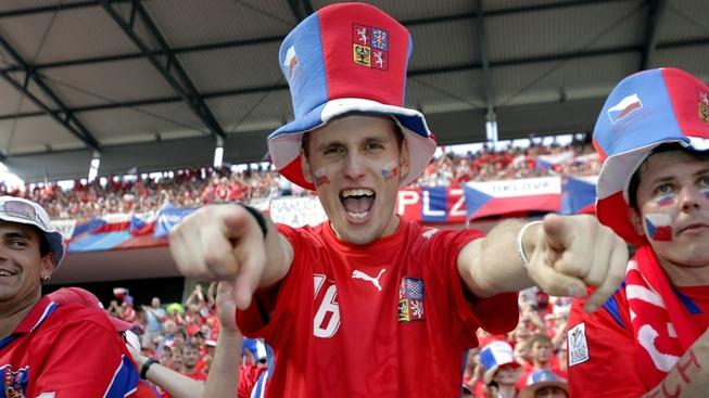 Image: 0006433605, License: Rights managed, Restrictions: ::::::::::::::, A male Czech Republic fan wearing a hat and singing in the crowd during the 2006 World Cup, Property Release: No or not aplicable, Model Release: No or not aplicable, Credit line: Profimedia.cz, Alamy